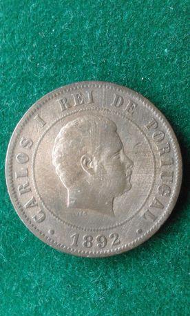 Moeda 20 Reis 1892
