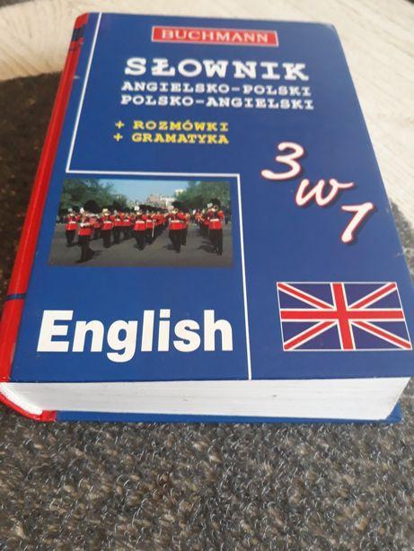 Słownik angielsko polski i polsko angielski +rozmówki +gramatyka