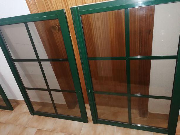 Janelas alumínio Vidro Duplo - Verde
