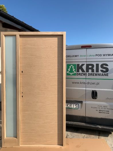Drzwi zewnętrzne drewniane ocieplane 75mm  131 x 235 OD RĘKI CAŁY KRAJ