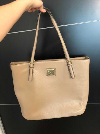 Beżowa torba Anne Klein