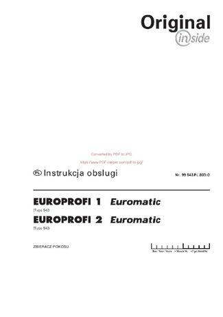 Instrukcja obsługi Przyczepy samozbierającej Pottinger EUROPROFI 1,2