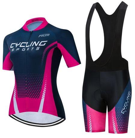 Conjunto feminino de ciclismo