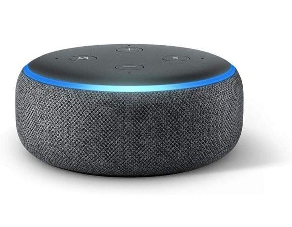 Coluna Inteligente Alexa Assistente Virtual Amazon Echo Dot 3ª Geração