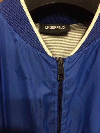 Karl Lagerfeld lekka kurtka wiosna lato bomberka niebieska L slim
