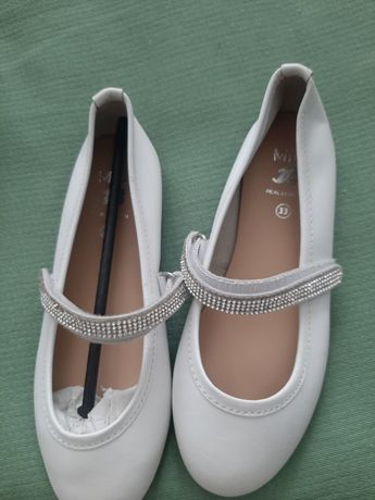Туфельки туфли нарядные белые monsoon zara bata crocs