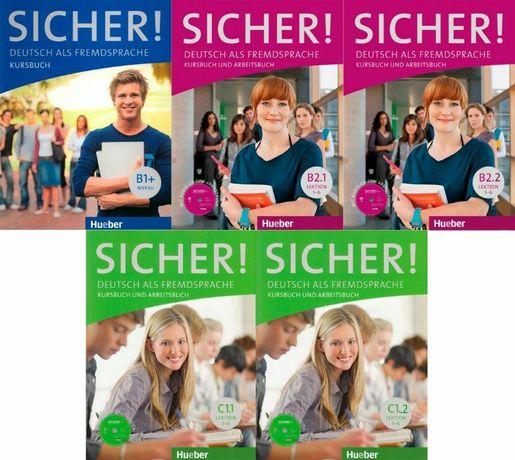 Учебники Sicher! Hueber Kursbuch + Arbeitsbuch