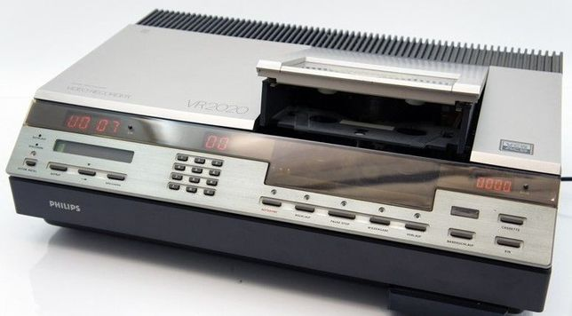 Gravador de cassetes de video Philips VR 2020, vintage anos 80