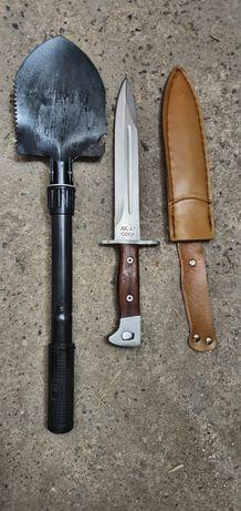 Bagnet AK47 nóż survival +saperka