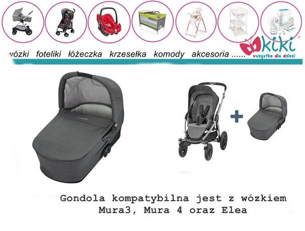 Gondola maxi cosi do wózka Mura Concrete grey folia, moskitiera
