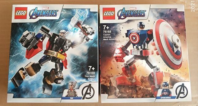 Lego Marvel Avengers Opancerz Mech Thora 76169 + Kapitan Ameryki 76168