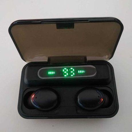 Auriculares TWS Bluetooth 2000mAh Estojo PowerBank Ipods Fones  P0030V