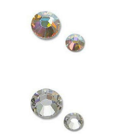 Cyrkonie szlifowane kryształowe opalizujące lub czyste szkło-50 szt.n1