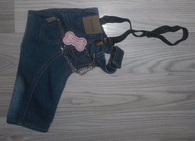 Новые стильные джинсы для собачки, размер М