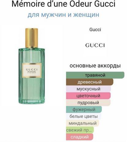 Парфюм Gucci Memoire 40 ml новые