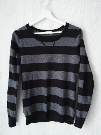 Sweterek w szaro-czarne paseczki