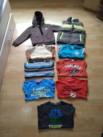 Zestaw 128 kamizelka bluza z futerkiem bluzy bluzki sweter