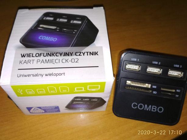 hub USB - rozgałęziacz USB / czytnik kart pamięci.