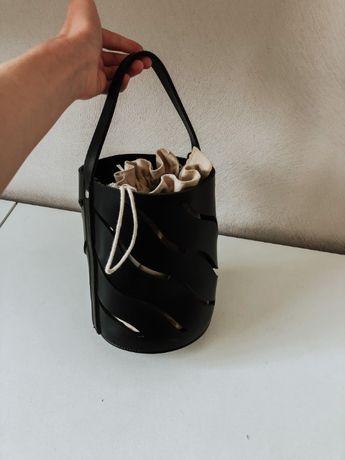 Актуальная сумка-вёдро с мешком
