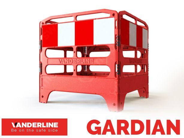 Barierka BHP Bariera Zabezpieczenie Tymczasowe GARDIAN - Komplet 4 szt