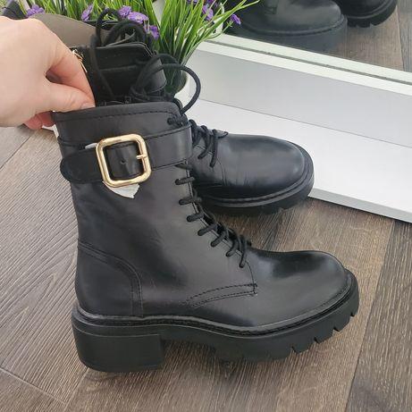 Невероятно стильные кожаные ботинки Zara 36,37,38