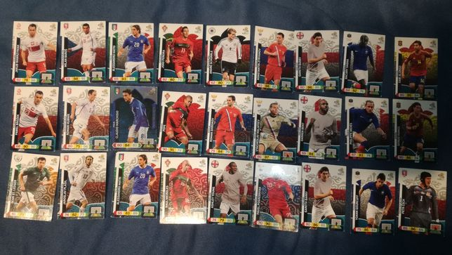 Sprzedam 27 kart PANINI UEFA Euro 2012