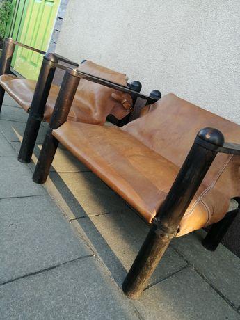 Fotel prl skóra design loft-industrial