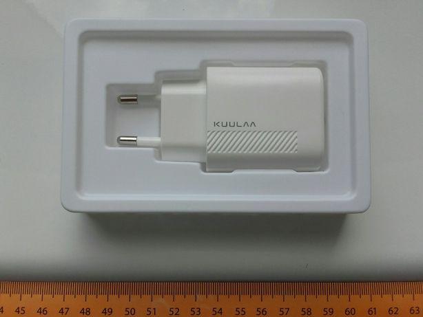 Ładowarka 18W Kuulaa PD, USB-C, Typ-C, szybkie ładowanie QC, 5V, 3A