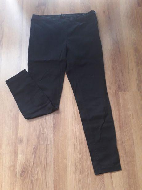 czarne bawełniane spodnie H&M 40 L