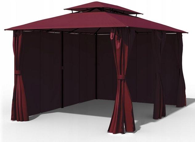 pawilon altana OGRODOWY namiot 3x4 Ścianki LED BORDOWY