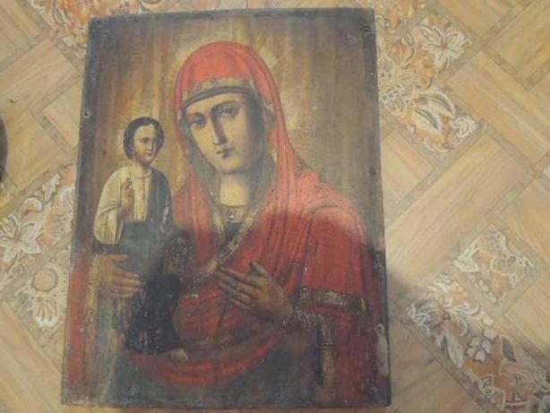икона старинная.-божья матерь