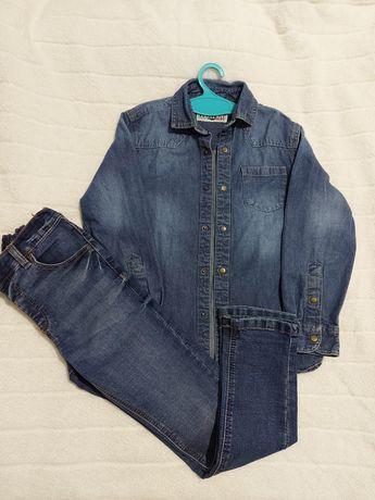 Рубашка+ джинси   Next 7 p.122cm.