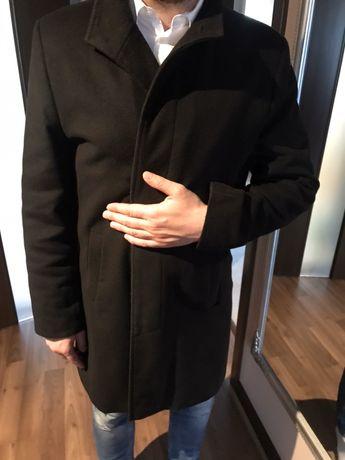 elegancki płaszcz męski czarny 176/100