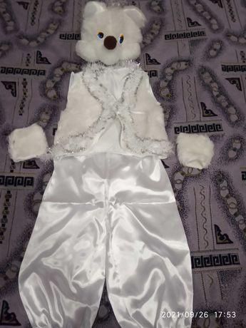 Новогодний костюм медведя на девочку