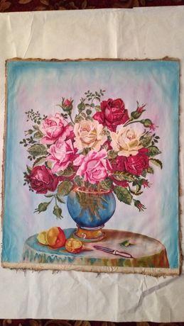 Картина натюрморт розы 1959 год