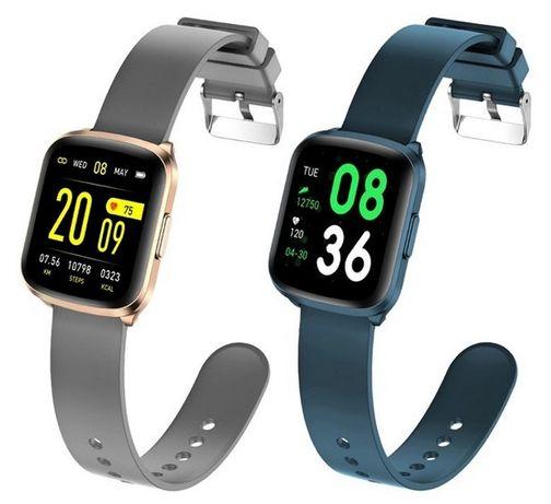 Elegancki CIENKI Smartwatch Zegarek Kingwear KW03 Turkusowy Szary