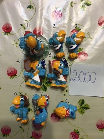 kinder niespodzianka papugi piraci