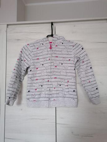 Bluza z kapturem 128 cool club szara dla dziewczynki
