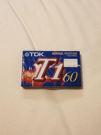 Kaseta magnetofonowa TDK T1 czysta 60 folia nowa