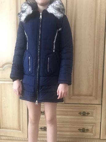Куртка зимняя подростковая на 11-12 лет, рост 146-158