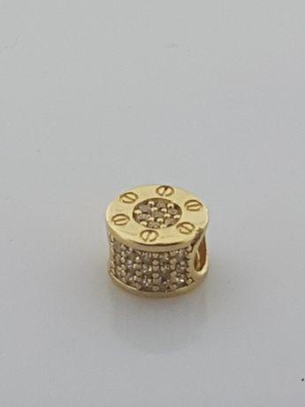 Złoty element charms na bransoletkę Pandora 14k.Nowy (316)