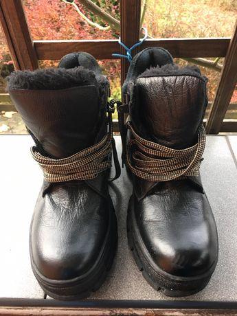 Ботинки зимние (натуральная кожа) Новые