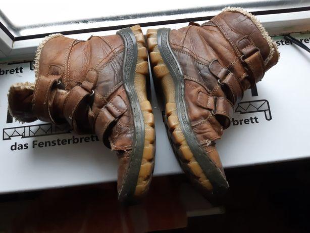 Шкіряні сапожки, кожаные ботинки, ботінки, сапоги 33 зима взуття