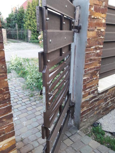 Ворота распашные откатные калитки козырьки