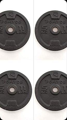Discos de musculação barras e halteres