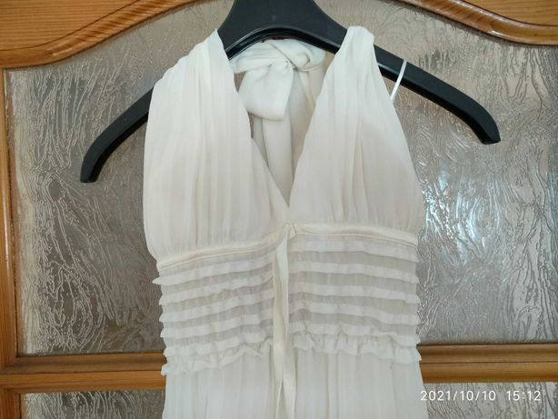 Sukienka biała w plisy