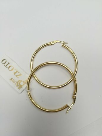 Złote kolczyki koła złoto 585