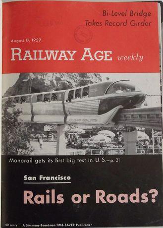Railway Age, 1959, numery 27-39 w oprawie