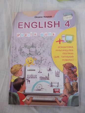 Англійська мова 4 клас Карпюк 2015р.