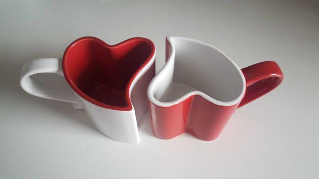 Kubki w kształcie serca serce dla dwojga